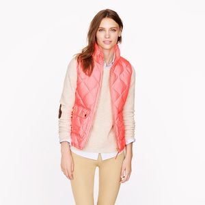 J. CREW Quilted Excursion Vest in Neon Pink \ Sz S